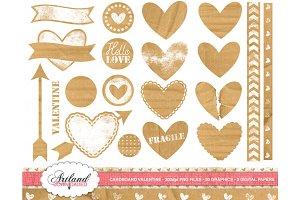 Cardboard Valentine Clipart n' Paper