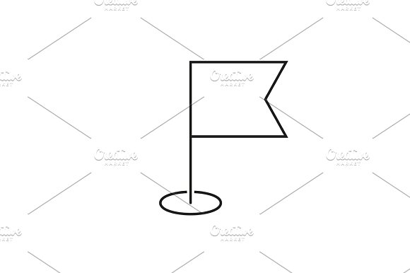 Navigation Flag Outline Icon