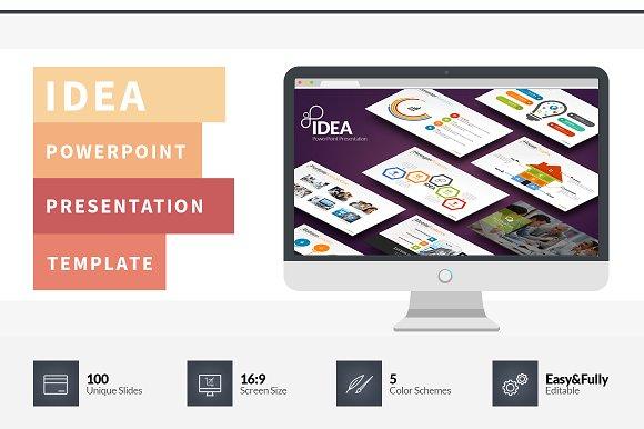 Idea flat powerpoint template presentation templates creative market toneelgroepblik Image collections
