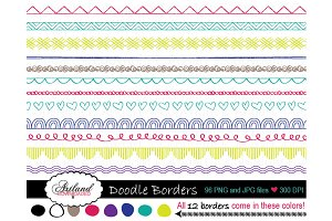 Doodle Borders Clipart Pack