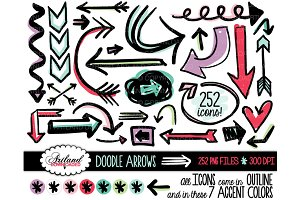 Doodle Arrows Clipart Value Pack