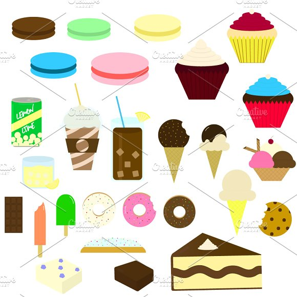 Sweets Vector Illustrations