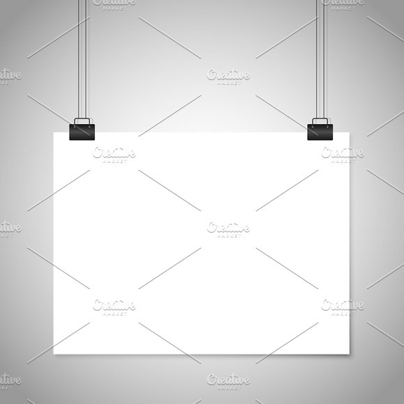 White Blank Paper Hanging Sign