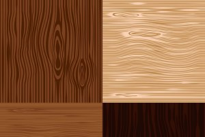 Wooden seamless backgrounds set