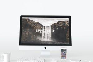 Front White iMac Mockup