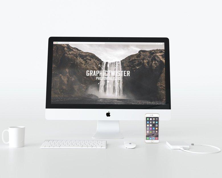 Front White iMac Mockup ~ Product Mockups ~ Creative Market