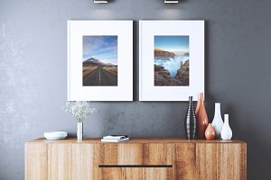 Double Wall Frame Mockup