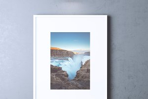 Single Wall Picture Frame Mockup