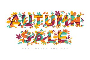 Autumn Sale typography design
