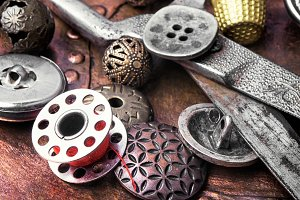 metal sewing button