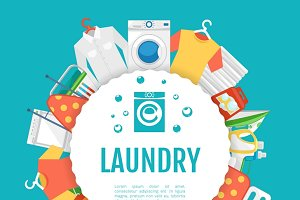 Laundry service poster design