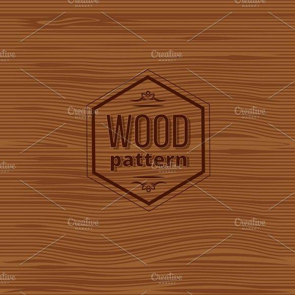Seamless Wood Vector Pattern