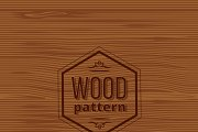Seamless wood vector pattern