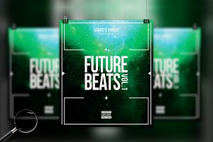 Future Beats | 6in1 Cover Template