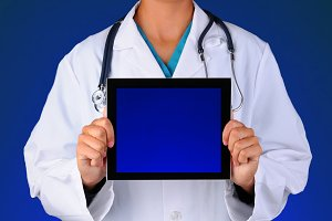 Nurse with Blank Tablet