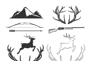 Deer head elements for labels