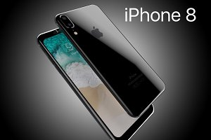 Apple iPhone8 2017 Rounded edges