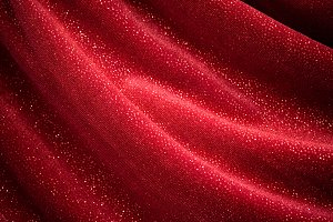 Glittery Red Fabric Background