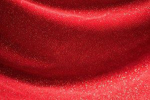 Red Sparkle Velvet Background