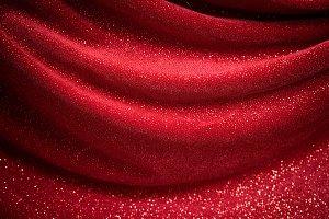 Glitter Red Background