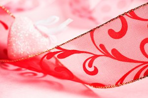 Valentine's Day Ribbon & Heart