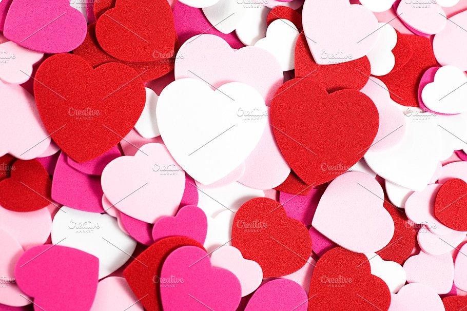Valentines Day Hearts Background Holiday Photos Creative Market