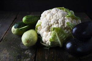 Group of Raw Fresh Organic Vegetables