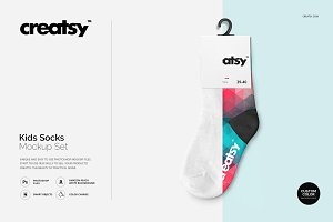 Kids Socks Mockup Set