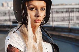 Girl motorcyclist