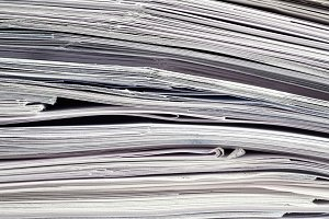 Tax Time - Stacked Bills - abstract
