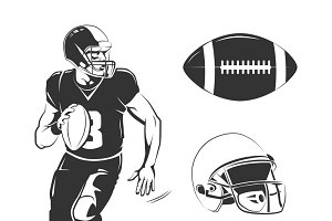 Elements for american football logos