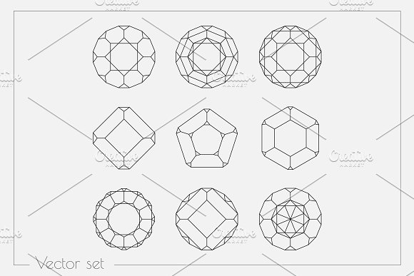 Linear shapes. Vector Crystals