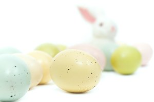 Easter Bunny & Pastel Eggs