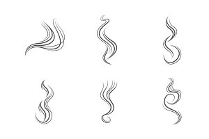 Smoke lines vector set