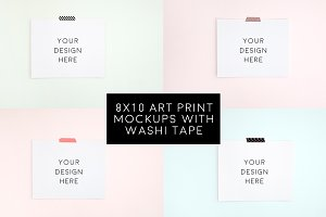4 Blank 8x10 Art Prints Bundle