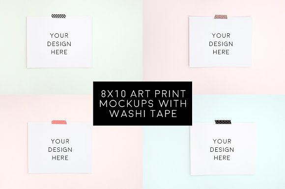 Download 4 Blank 8x10 Art Prints Bundle