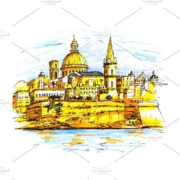 Embankment Of Valletta Malta