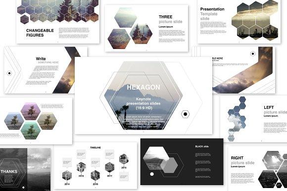 Hexagon presentation v02 key presentation templates creative market toneelgroepblik Images