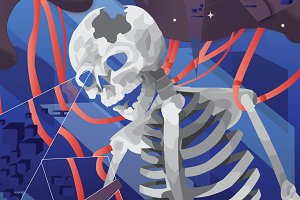 Abstract Skeleton Illustration