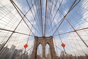 Brooklyn Bridge & NYC Skyline