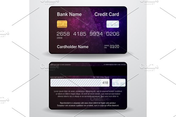 Detailed Realistic Vector Credit Card