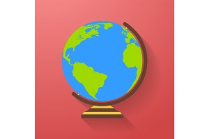 Globe icon. Earth symbol