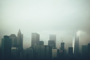 Cloudy NYC Skyline