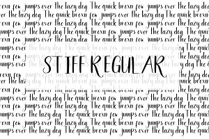 Stiff Regular Font