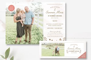Summer Mini Session Templates