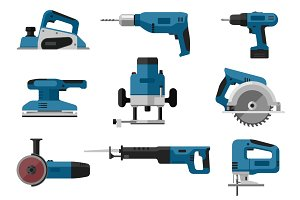 Electric tools set
