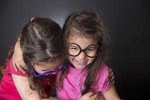 Sisters with glasses
