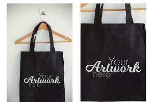 Bag On Hanger With Graphic Mockup