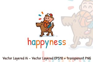 Happyness logo design