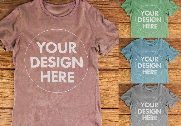 Multicolour T-Shirt Mockup